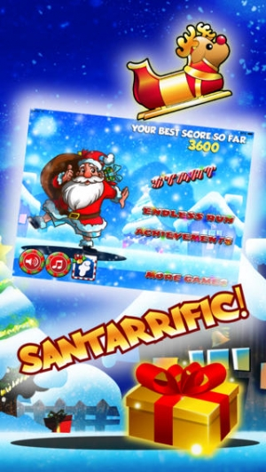 iPhone、iPadアプリ「Santa Claus Christmas Strip Jump Action - Hilarious underwear family xmas adventure ho ho ho FREE by Golden Goose Production」のスクリーンショット 1枚目