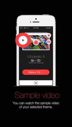 iPhone、iPadアプリ「15Seconds Photo Movie」のスクリーンショット 2枚目