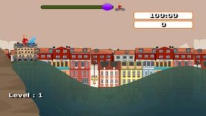 iPhone、iPadアプリ「Granny BMX Biker Rush」のスクリーンショット 2枚目