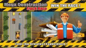 iPhone、iPadアプリ「Mega Construction Truck Race Free : Big Tractor Racing Sim」のスクリーンショット 3枚目