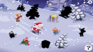 iPhone、iPadアプリ「サンタクロース、トナカイルドルフ、ギフト、そして雪のたくさんの幼稚園、幼稚園や保育園のためのパズルやゲーム:クリスマスについての子供の年齢2-5のためのゲーム。無償、新しい!」のスクリーンショット 4枚目