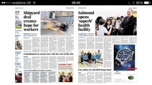 iPhone、iPadアプリ「Press And Journal Aberdeen」のスクリーンショット 3枚目
