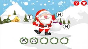 iPhone、iPadアプリ「ABCのクリスマス!子供のためのゲーム: 学ぶ 言葉やサンタクロース、ルドルフトナカイ、雪だるま、エルフや複数とアルファベットを書くこと。無償、新しい、学習、メリークリスマス!」のスクリーンショット 2枚目