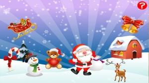 iPhone、iPadアプリ「ABCのクリスマス!子供のためのゲーム: 学ぶ 言葉やサンタクロース、ルドルフトナカイ、雪だるま、エルフや複数とアルファベットを書くこと。無償、新しい、学習、メリークリスマス!」のスクリーンショット 1枚目