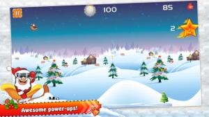 iPhone、iPadアプリ「クレイジーサンタクリスマス·レーシング - 子供のためのトップニトロロケットギアクリスマスアクションゲーム!」のスクリーンショット 4枚目