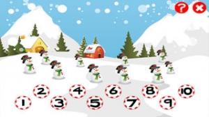 iPhone、iPadアプリ「クリスマスについての子供の年齢2-5のためのゲーム:幼稚園、保育園や保育所の番号1から10を数えることを学ぶ」のスクリーンショット 2枚目