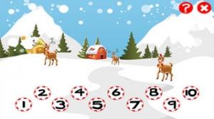 iPhone、iPadアプリ「クリスマスについての子供の年齢2-5のためのゲーム:幼稚園、保育園や保育所の番号1から10を数えることを学ぶ」のスクリーンショット 4枚目
