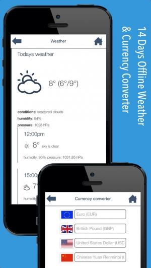 iPhone、iPadアプリ「パリ オフラインマップ&フライト。航空券、空港、レンタカー、予約のホテル。無料のナビゲーション。」のスクリーンショット 4枚目