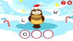 iPhone、iPadアプリ「ABCのクリスマス!子供のためのゲーム: 学ぶ 森の動物と言葉やアルファベットを書き込むことができます。無償、新しい、学習、メリークリスマス!」のスクリーンショット 4枚目
