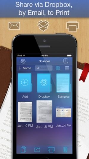 iPhone、iPadアプリ「PDF Scanner - easily scan books and multipage documents to PDF」のスクリーンショット 3枚目
