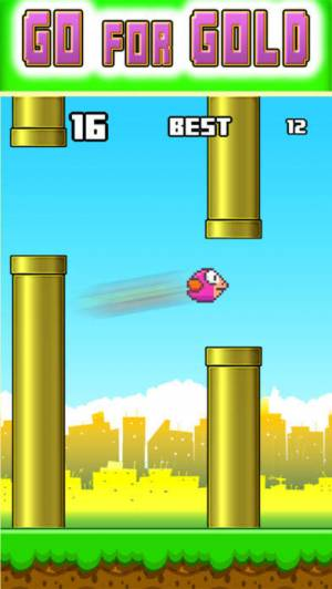 iPhone、iPadアプリ「Jumpy Red Bird - Tube Hopper」のスクリーンショット 4枚目