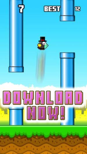 iPhone、iPadアプリ「Jumpy Red Bird - Tube Hopper」のスクリーンショット 3枚目