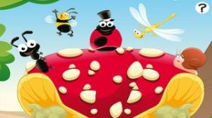 iPhone、iPadアプリ「森の昆虫約子供の年齢2-5のためのゲーム。幼稚園、保育園や保育所のためのゲームやパズル。動物、クモ、アリ、蚊、蝶、木々や花と遊ぶ。無償、新しい教育!」のスクリーンショット 1枚目