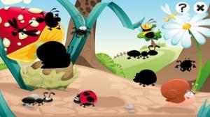 iPhone、iPadアプリ「森の昆虫約子供の年齢2-5のためのゲーム。幼稚園、保育園や保育所のためのゲームやパズル。動物、クモ、アリ、蚊、蝶、木々や花と遊ぶ。無償、新しい教育!」のスクリーンショット 4枚目