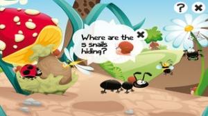 iPhone、iPadアプリ「森の昆虫約子供の年齢2-5のためのゲーム。幼稚園、保育園や保育所のためのゲームやパズル。動物、クモ、アリ、蚊、蝶、木々や花と遊ぶ。無償、新しい教育!」のスクリーンショット 3枚目