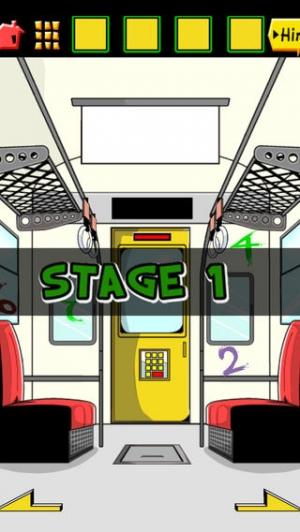 iPhone、iPadアプリ「脱出ゲーム 電車からの脱出」のスクリーンショット 1枚目