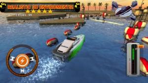 iPhone、iPadアプリ「ボート場3D - 無料運転ゲーム ( Boat Parking & Driving 3D)」のスクリーンショット 2枚目