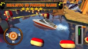 iPhone、iPadアプリ「ボート場3D - 無料運転ゲーム ( Boat Parking & Driving 3D)」のスクリーンショット 1枚目