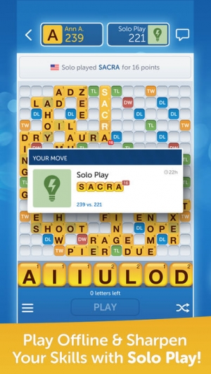 iPhone、iPadアプリ「Words With Friends – Word Game」のスクリーンショット 5枚目