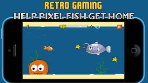 iPhone、iPadアプリ「Floppy Splashy Fish - Underwater Flappy Adventure」のスクリーンショット 1枚目