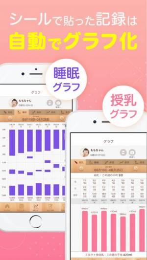 iPhone、iPadアプリ「かんたん育児記録: 育ログ WM」のスクリーンショット 3枚目
