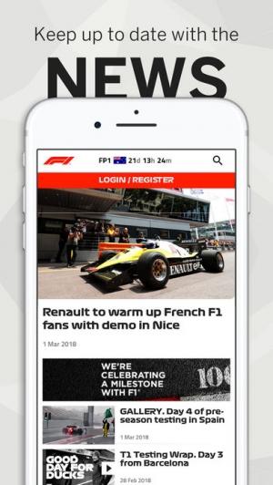 iPhone、iPadアプリ「Formula 1®」のスクリーンショット 3枚目