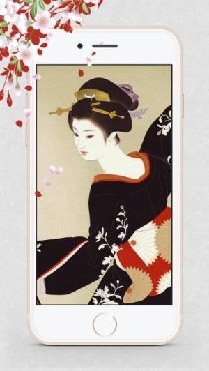 iPhone、iPadアプリ「浮世絵壁紙 - 美しい日本画ギャラリー」のスクリーンショット 3枚目