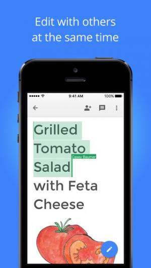 iPhone、iPadアプリ「Google ドキュメント」のスクリーンショット 2枚目