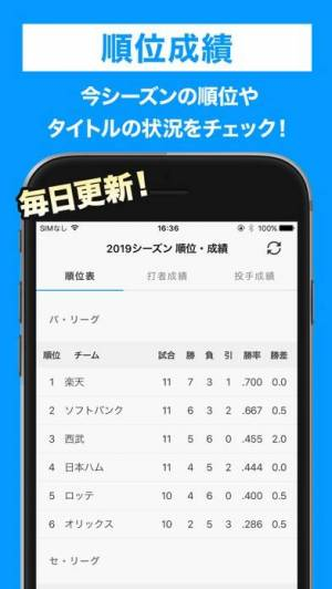 iPhone、iPadアプリ「スカパー!プロ野球セットアプリ」のスクリーンショット 5枚目