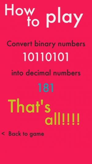 iPhone、iPadアプリ「Binary  - 2進数から10進数に変換!エンジニアなら、30点は取れて当たり前 -」のスクリーンショット 2枚目
