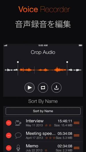 iPhone、iPadアプリ「ボイスレコーダー+ オーディオ録音」のスクリーンショット 2枚目
