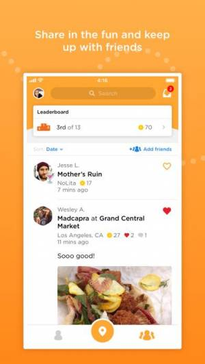 iPhone、iPadアプリ「Foursquare Swarm: Check-in App」のスクリーンショット 3枚目