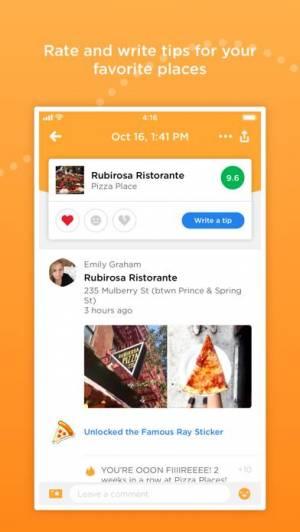 iPhone、iPadアプリ「Foursquare Swarm: Check-in App」のスクリーンショット 2枚目