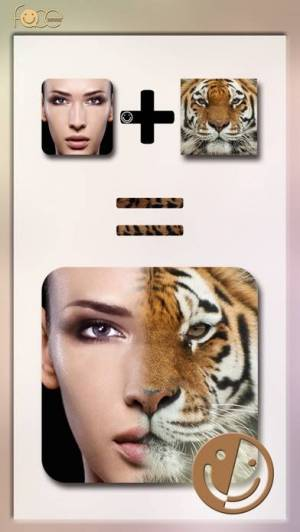 iPhone、iPadアプリ「InstaFace:face eyes blend morph with animal effect」のスクリーンショット 2枚目