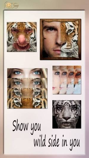 iPhone、iPadアプリ「InstaFace:face eyes blend morph with animal effect」のスクリーンショット 1枚目