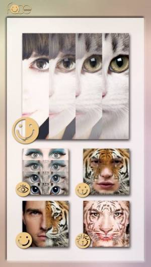 iPhone、iPadアプリ「InstaFace:face eyes blend morph with animal effect」のスクリーンショット 3枚目