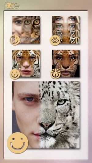 iPhone、iPadアプリ「InstaFace:face eyes blend morph with animal effect」のスクリーンショット 4枚目