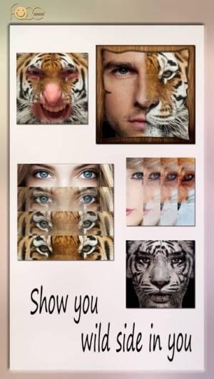 iPhone、iPadアプリ「InstaFace:face eyes blend morph with animal effect」のスクリーンショット 1枚目
