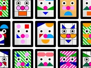 iPhone、iPadアプリ「色とカタチでおめんをデザイン!WA!SK」のスクリーンショット 4枚目