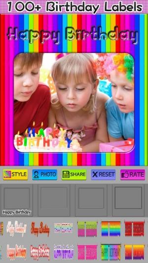 iPhone、iPadアプリ「Happy Birthday Frames」のスクリーンショット 4枚目