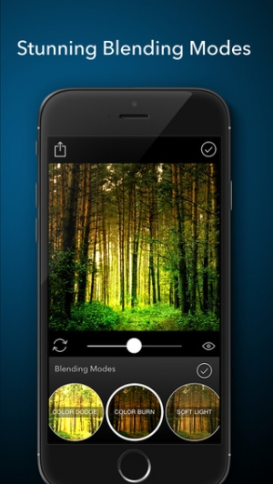 iPhone、iPadアプリ「Layered - Powerful photo editor, add texture layers to create stunning effects」のスクリーンショット 3枚目