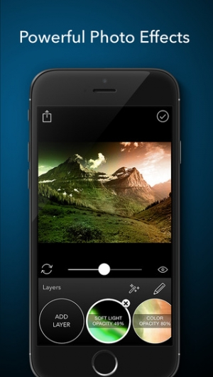 iPhone、iPadアプリ「Layered - Powerful photo editor, add texture layers to create stunning effects」のスクリーンショット 1枚目