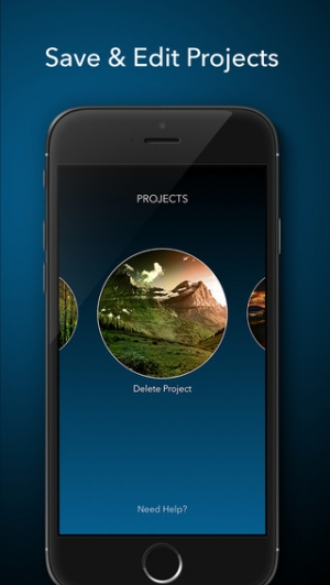 iPhone、iPadアプリ「Layered - Powerful photo editor, add texture layers to create stunning effects」のスクリーンショット 4枚目