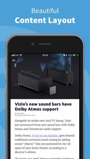iPhone、iPadアプリ「Inoreader - RSS&ニュースリーダー」のスクリーンショット 4枚目