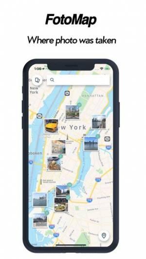 iPhone、iPadアプリ「フォトマップ - 地図でアルバム作成」のスクリーンショット 1枚目