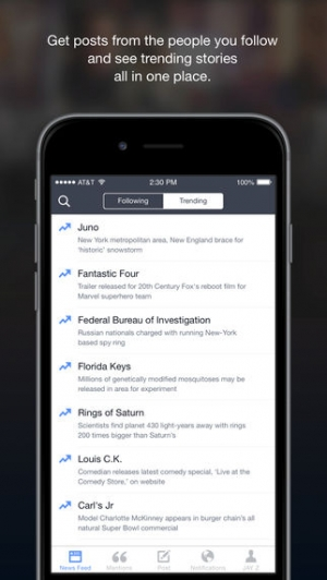 iPhone、iPadアプリ「Facebook Creator」のスクリーンショット 5枚目