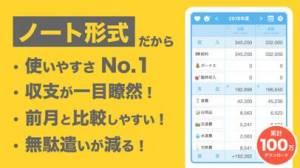 iPhone、iPadアプリ「家計簿アプリ - 簡単!家計簿(かんたん!かけいぼ)」のスクリーンショット 1枚目