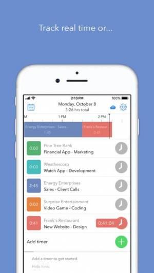 iPhone、iPadアプリ「Hours Time Tracking」のスクリーンショット 5枚目