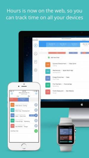 iPhone、iPadアプリ「Hours - 時間追跡」のスクリーンショット 1枚目