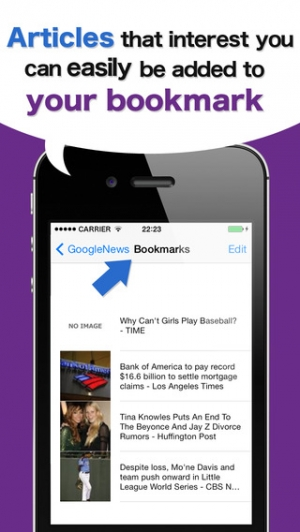 iPhone、iPadアプリ「-GYNEWS USA-It's simple,but a convenient newsreader (Google and Yahoo version)」のスクリーンショット 4枚目